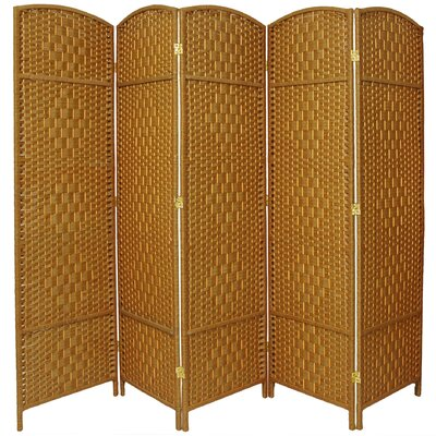 Anthurium 5 Panel Room Divider Color: Light Beige