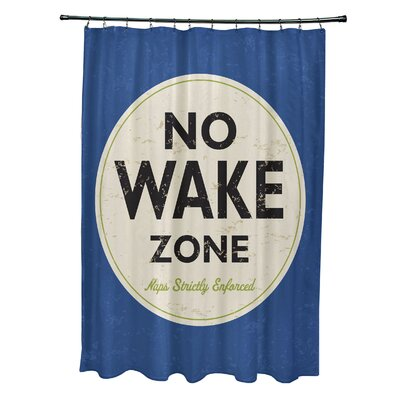 Pembrook Polyester Nap Zone Word Shower Curtain Color: Blue