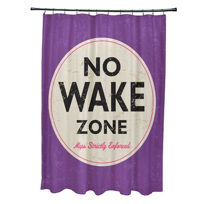 Pembrook Polyester Nap Zone Word Shower Curtain Color: Purple