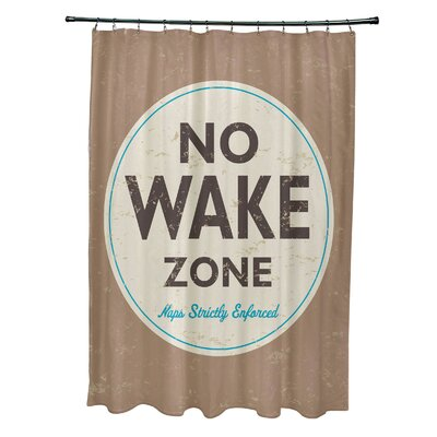 Pembrook Polyester Nap Zone Word Shower Curtain Color: Beige/Taupe
