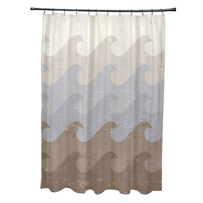 Pembrook Polyester Deep Sea Geometric Shower Curtain Color: Taupe/Gray