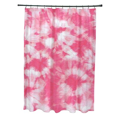 Pembrook Polyester Chillax Geometric Shower Curtain Color: Pink