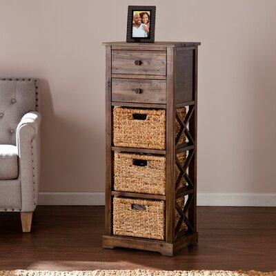 Stimson 2 Drawer Storage Chest 3 Basket Storage Tower