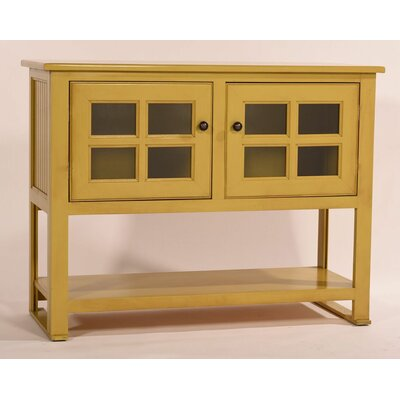 Aisley Console Table Color: Khaki Green