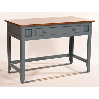 Fern Writing Desk Base Color: Autumn Sage, Top Color: Concord Cherry