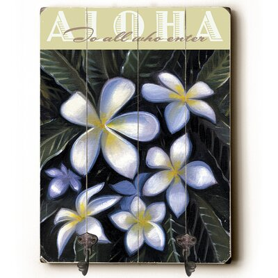 Aloha Planked Wood Wall Mounted Coat Rack