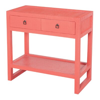 Brantwood Console Table Color: Coral