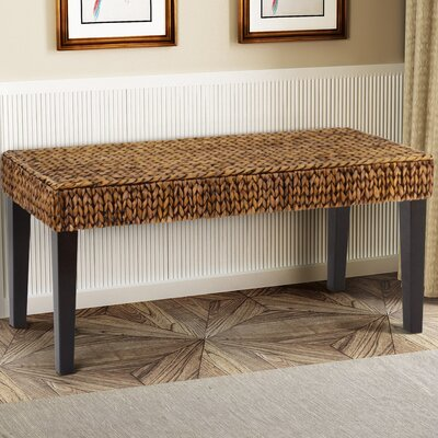 Nobles Wood Hallway Bench Color: Gold Patina