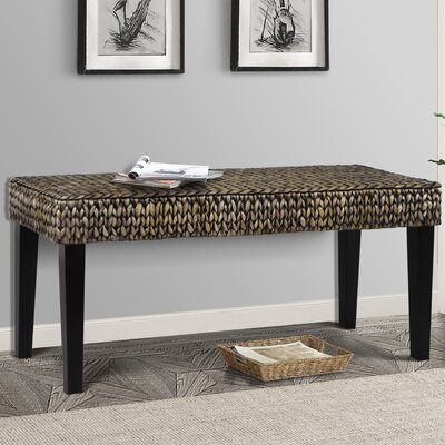 Nobles Wood Hallway Bench Color: Silver Grey Patina