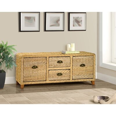 Nobles Wood Storage Bench Color: Natural