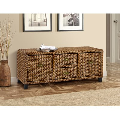 Nobles Wood Storage Bench Color: Gold Patina