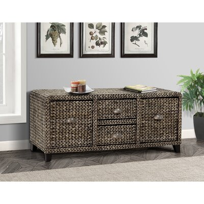 Nobles Wood Storage Bench Color: Silver Grey Patina