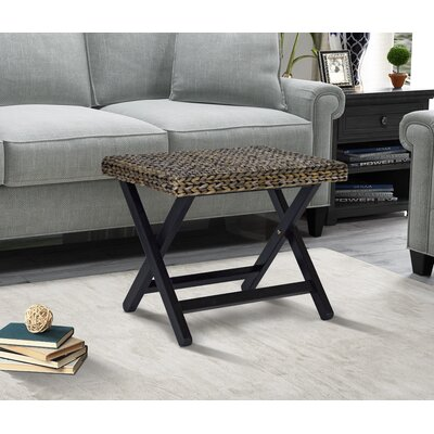 Nobles Folding Stool Color: Silver Grey Patina