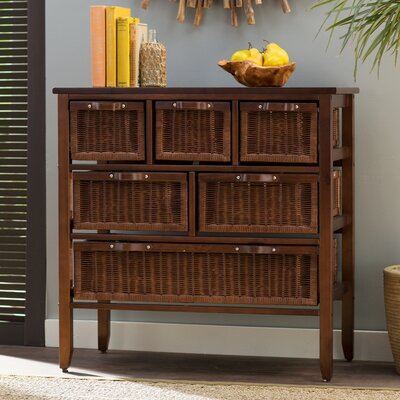 Jetta Rattan 6 Drawer Accent Chest