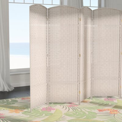 Macey 6 Panel Room Divider Color: White