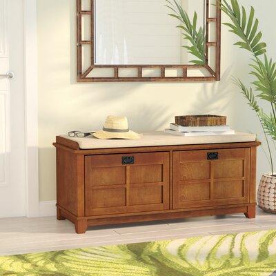 Lexie Fabric Storage Bench Color: Warm Oak