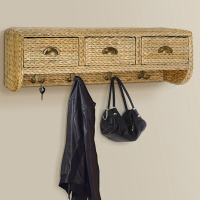 Nobles Wall Mounted Coat Rack Finish: Gold Patina