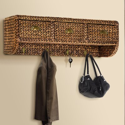 Nobles Wall Mounted Coat Rack Finish: Silver Grey Patina