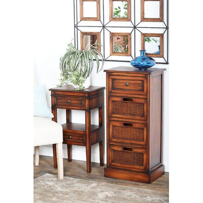 Bryce Rustic Rectangular Storage 4 Drawer Accent Chest
