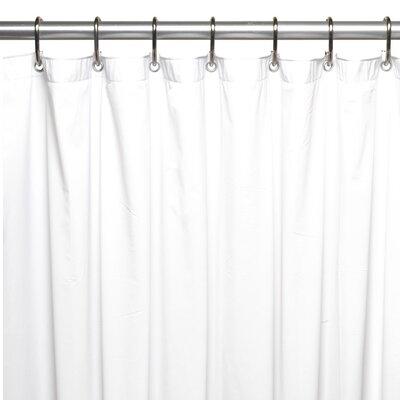Vinyl 5 Gauge Shower Curtain Liner Color: White