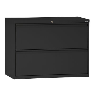 "Frasher 2 Drawer Lateral Filing Cabinet Finish: Forest Green, Size: 28.375"" H x 42"" W x 19.25"" D"