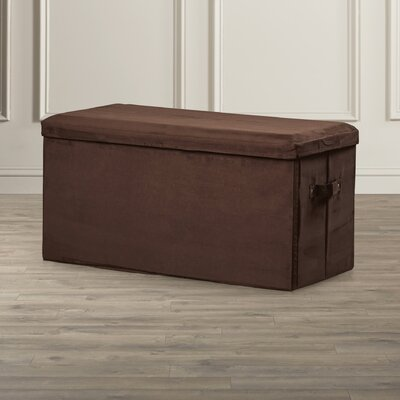 Upholstered Storage Bench Color: Brown