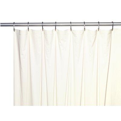 5 Gauge Vinyl Shower Curtain Liner Color: Bone