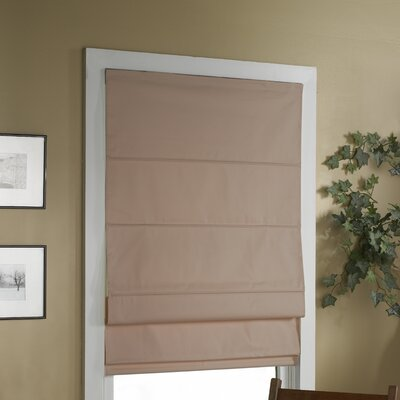 "Blackout Roman Shade Color: Linen, Size: 48"" W x 72"" L"