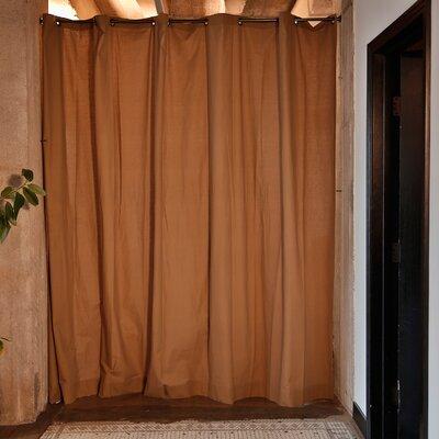 Muslin Room Divider Color: Khaki