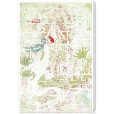 "Abby Little Mermaid Original Canvas Art Size: 24"" H x 16"" W x 1.5"" D"