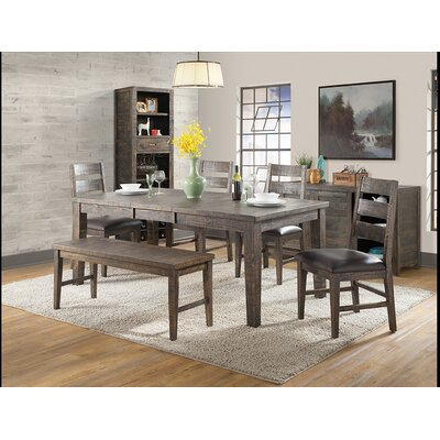 Glenwood Dining Set with Bench and 4 Side Chairs