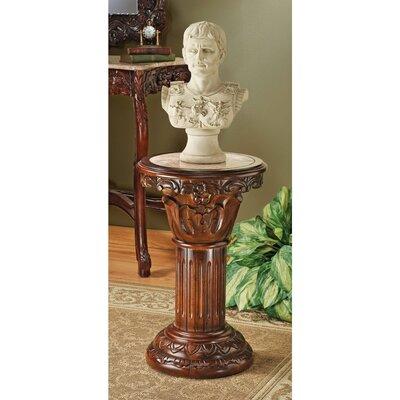 Kellum Amandari Inlaid Pedestal Plant Stand Size: Medium