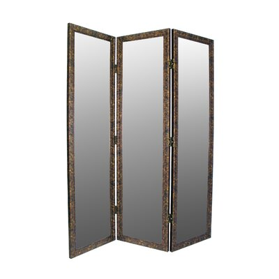 Sigiriya 3 Panel Room Divider Color: Brown / Gold