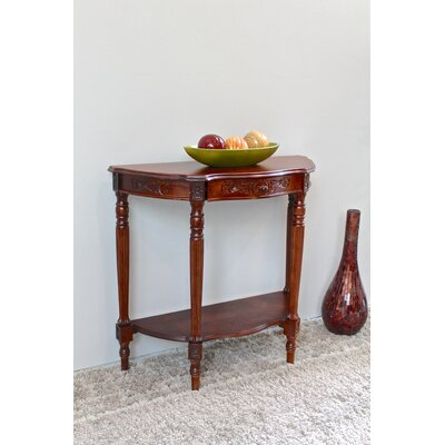 Katsikis Hand Carved Half Moon Console Table