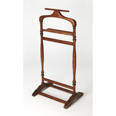 Wood Valet Stand Color: Olive Ash Burl