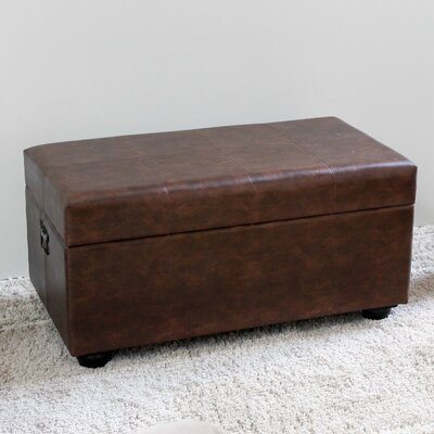 Stone Castle Storage Bench Color: Brown