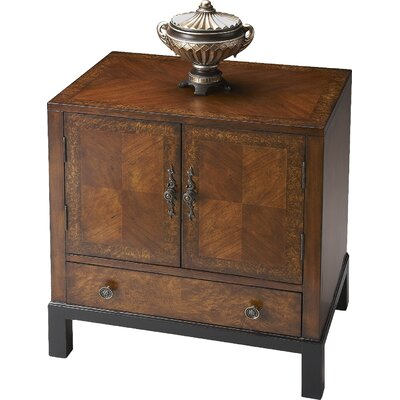 Copley 1 Drawer 2 Door Accent Cabinet Color: Antique Brass