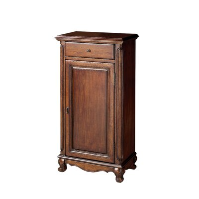 Beedle 1 Drawer and 1 Door Accent Cabinet Color: Antique Brass