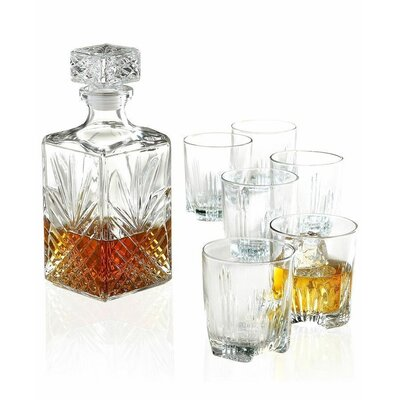Adira 7 Piece Whiskey Tumbler and Decanter Set