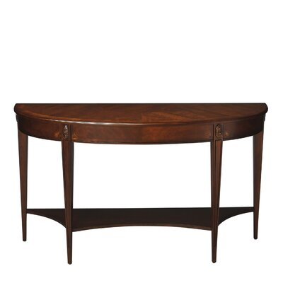 Rochele Demilune Console Table Color: Nutmeg