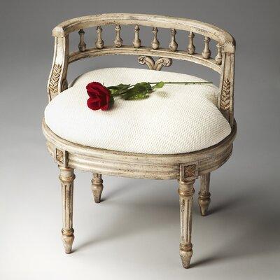 Kadine Vanity Seat Color: Guilded Cream