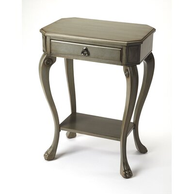 Copley Channing Console Table Color: Silver Satin