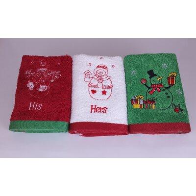 Snowman Family Turkish Cotton Washcloth