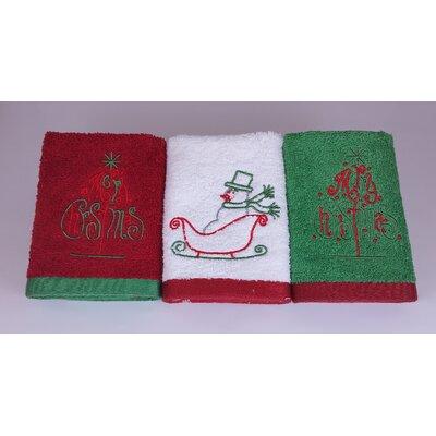 Merry Christmas Turkish Cotton Washcloth