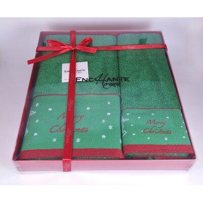 Christmas Deer 2 Piece Turkish Cotton Towel Set