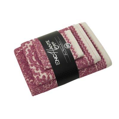 Esquire 3 Piece Turkish Cotton Towel Set Color: Red Melange
