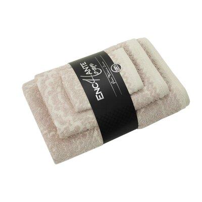 Esquire 3 Piece Turkish Cotton Towel Set Color: Beige Melange