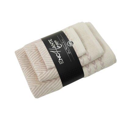 Salina 3 Piece Turkish Cotton Towel Set Color: Beige Melange