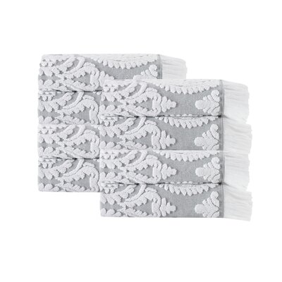 Laina Turkish Cotton Hand Towel Color: Silver