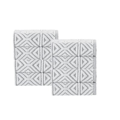Glamour Turkish Cotton Washcloth Color: Silver